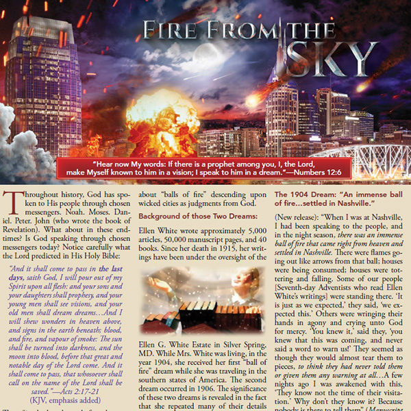 Fire from the Sky Tract by Steve Wohlberg