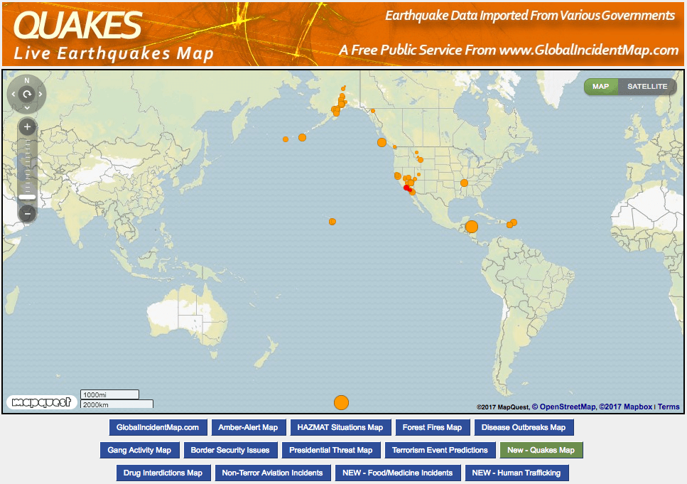 Live Earthquake Map
